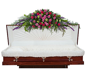 Forever Cherished Full Casket Spray in Rockledge PA, Blake Florists