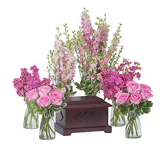 Surrounded by Love in Pink in Abington MA, The Hutcheon's Flower Co, Inc.