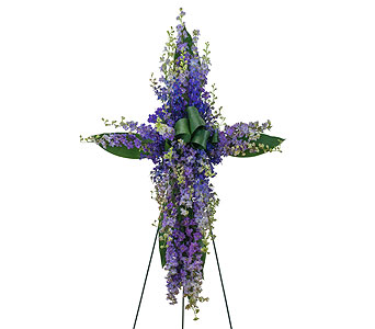 Lovingly Lavender Cross in Augusta GA, Ladybug's Flowers & Gifts Inc