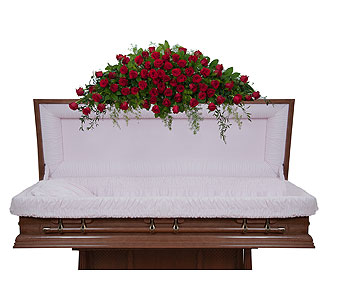 Royal Rose Full Casket Spray in Abington MA, The Hutcheon's Flower Co, Inc.
