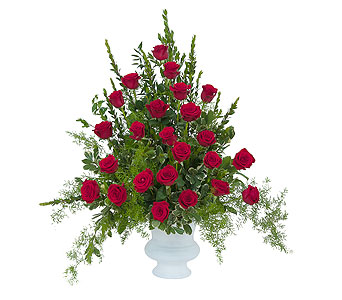 Royal Rose Urn in Harrisonburg VA, Blakemore's Flowers, LLC