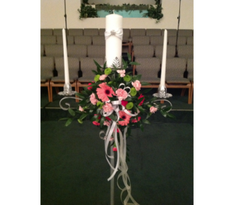 Unity Candle Arrangement in Kissimmee FL, Golden Carriage Florist