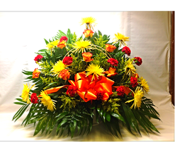 Filer's Fall Funeral Basket in Cleveland OH, Filer's Florist Greater Cleveland Flower Co.