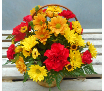 Fall Basket, Small in Skowhegan ME, Boynton's Greenhouses, Inc.