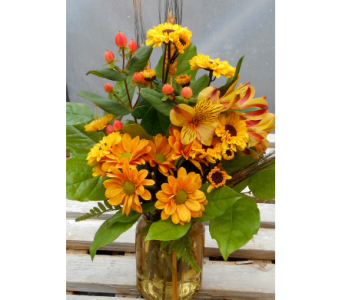 Fall Mason Jar in Skowhegan ME, Boynton's Greenhouses, Inc.