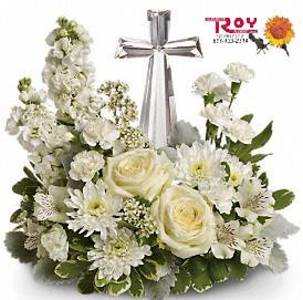 Crystal Cross Bouquet in Cornwall ON, Fleuriste Roy Florist, Ltd.