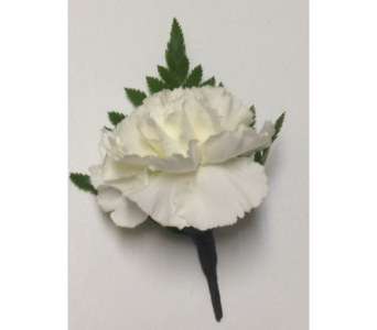 Large White Carnation Boutonniere in Wyoming MI, Wyoming Stuyvesant Floral