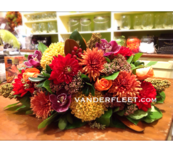 Fall Passion Floral Centerpiece in Etobicoke ON, VANDERFLEET Flowers