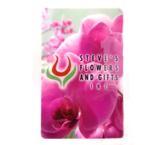 Giftcard in Indianapolis IN, Steve's Flowers and Gifts