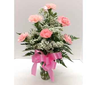 6 Pink Carnations in Timmins ON, Timmins Flower Shop Inc.