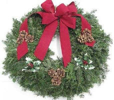 Evergreen Wreath - 30in in Waukegan IL, Larsen Florist