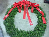 Evergreen Wreath - 60in in Waukegan IL, Larsen Florist