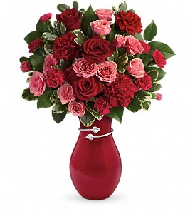 Teleflora's Hearts Entwined Bouquet in Meadville PA, Cobblestone Cottage and Gardens LLC