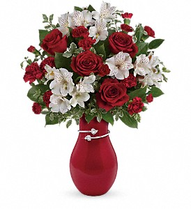 Teleflora's Pair Of Hearts Bouquet in The Woodlands TX, Rainforest Flowers