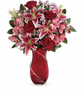 Teleflora's Wrapped With Passion Bouquet in Houston TX, Classy Design Florist