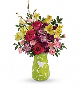 Teleflora's Hello Spring Bouquet in The Woodlands TX, Rainforest Flowers