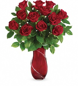 Teleflora's Wrapped In Roses Bouquet in McComb MS, Alford's Flowers