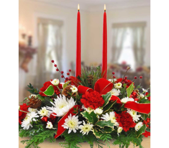 A Merry Christmas Centerpiece in Indianapolis IN, George Thomas Florist
