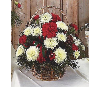 Holiday Flower Basket in Indianapolis IN, George Thomas Florist