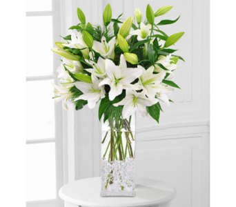Winter White Lilies in Indianapolis IN, George Thomas Florist