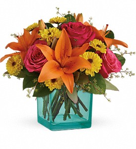 Teleflora's Fiesta Bouquet in Charleston WV, Food Among The Flowers