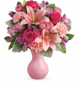 Teleflora's Lush Blush Bouquet in Concord NC, Pots Of Luck Florist
