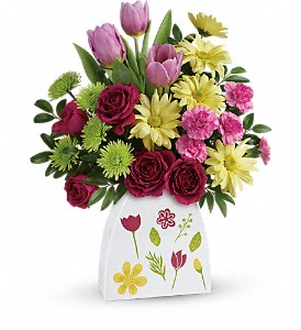 Teleflora's Make Their Daisies Bouquet in Bloomington IL, Beck's Family Florist