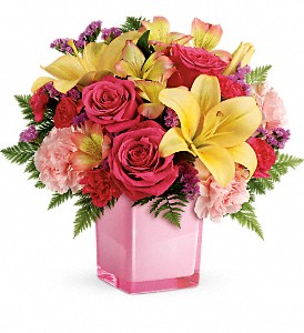 Teleflora's Pop Of Fun Bouquet in Calgary AB, Charlotte's Web Florist