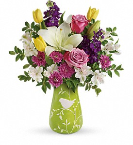Teleflora's Veranda Blooms Bouquet in The Woodlands TX, Rainforest Flowers