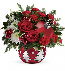 Teleflora's 'Tis The Season Bouquet in Kingston NY, Flowers by Maria