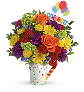 Teleflora's Celebrate You Bouquet in McHenry IL, Locker's Flowers, Greenhouse & Gifts
