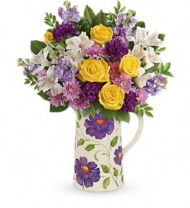Teleflora's Garden Blossom Bouquet in Wichita Falls TX, Autumn Leaves