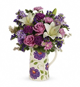 Teleflora's Garden Pitcher Bouquet in Muncy PA, Rose Wood Flowers