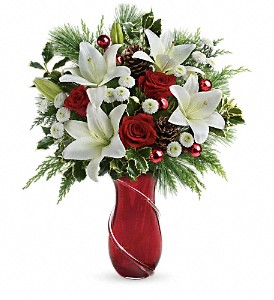 Teleflora's Shimmering Pines Bouquet in Tinley Park IL, Hearts & Flowers, Inc.