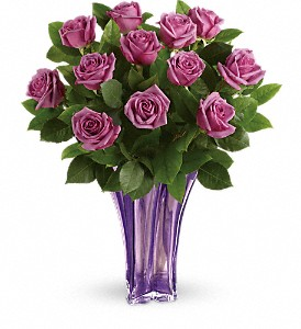 Teleflora's Lavender Splendor Bouquet in Lancaster OH, Flowers of the Good Earth
