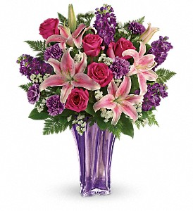 Teleflora's Luxurious Lavender Bouquet in Tulsa OK, Ted & Debbie's Flower Garden
