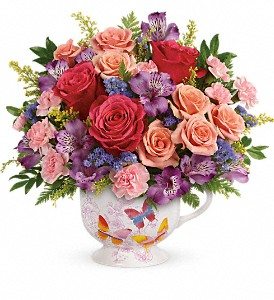 Teleflora's Wings Of Joy Bouquet in Bluffton IN, Posy Pot