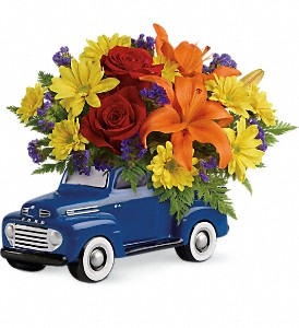 Vintage Ford Pickup Bouquet by Teleflora in Innisfail AB, Lilac & Lace Floral Design