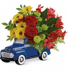 Glory Days Ford Pickup by Teleflora in The Woodlands TX, Rainforest Flowers