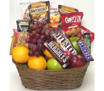 Sweet & Salty with Fresh Fruit Basket in Wyoming MI, Wyoming Stuyvesant Floral