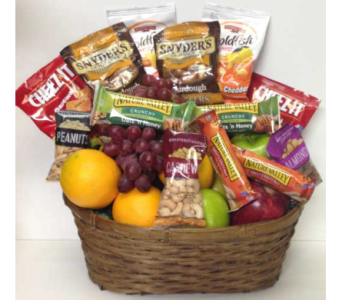 The Sharing Fruit and Snack Basket in Wyoming MI, Wyoming Stuyvesant Floral