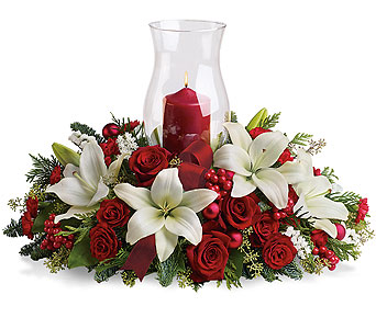 Holiday Glow Centerpiece in Detroit and St. Clair Shores MI, Conner Park Florist