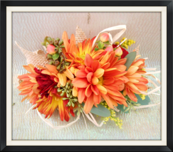 Fall Color Corsage in Tyler TX, The Flower Box