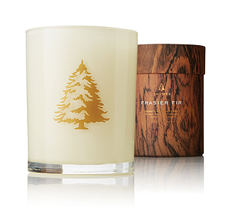 Frasier Fir Holiday Wood Wick Candle in Detroit and St. Clair Shores MI, Conner Park Florist
