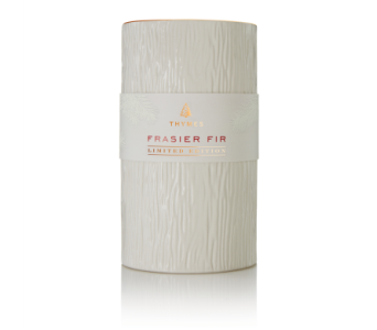 Frasier Fir Ceramic Pillar Candle, Limited Edition in Detroit and St. Clair Shores MI, Conner Park Florist