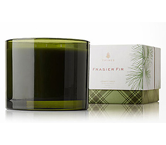 Frasier Fir 3 Wick Candle in Detroit and St. Clair Shores MI, Conner Park Florist