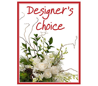 Designer's Choice - Winter in Waukesha WI, Flowers by Cammy