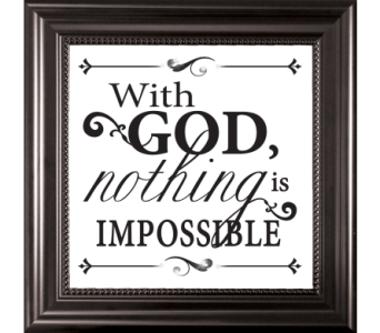 With God Nothing is Impossible in Isanti MN, Elaine's Flowers & Gifts