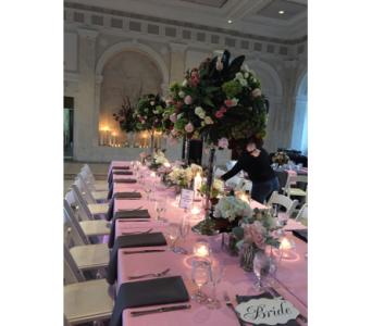 Blushing Bridal Table in Atlanta GA, Buckhead Blooms