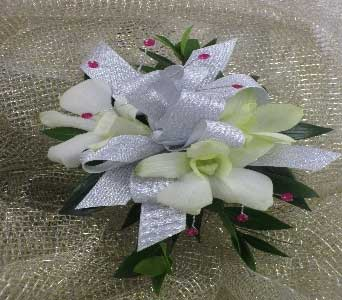 Orchid Wrist Corsage in Cary NC, Cary Florist